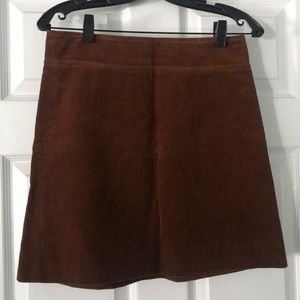 JCrew Chestnut brown corduroy fall skirt